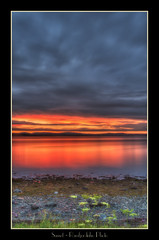 Sunset (Ramfjordinho) Tags: sunset clouds levanger norway nature norge evening sea reflections pentax shoreline seascape seaside colors trndelag trondheimsfjorden