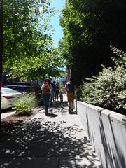 Around Seattle: South Lake Union (Seattle Department of Transportation) Tags: seattle sdot transportation slu southlakeunion amazon pedestrian walkers peds pedestrians dog phone trees