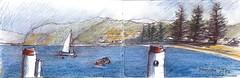 Patonga - view from the wharf (panda1.grafix) Tags: brisbanewaters landscape sketch seascape patonga brokenbay