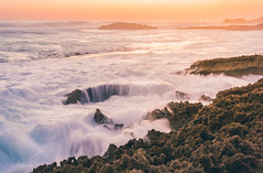 Shades of the Sunset (tommy kuo) Tags: sunset sunsets wave waves longexposure rock rocks water colour color beautiful rye mornington morningtonpeninsula melbourne victoria australia mirrorless ocean sea coast beach samsung nx1 24mm landscape