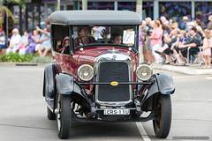 Vintage Studebaker - Jacaranda Parade 2015 (sbyrnedotcom) Tags: 2015 people events grafton jacaranda parade rural town studebaker sedan burgundy vintage nsw australia