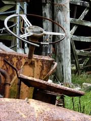 Seen Better Days (alison's daily photo) Tags: seenbetterdays steeringwheel rust