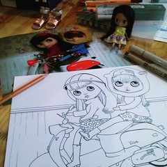 Blythedoll Sketch  Drawliner