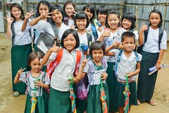 Myanmar team seeks to convert old farmland facility into apartment complex to generate funding for orphan care programs (Peace Gospel) Tags: children girls friends friendship school uniforms students education educate smiles smiling smile happy happiness joy joyful peace peaceful hope hopeful thankful grateful gratitude excited excitement kids cute adorable beautiful beauty lovely loved empowerment empowered empower orphans