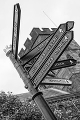 Which Way (Charlie Little) Tags: carlisle cumbria signpost bw sony a6000 streetphotography