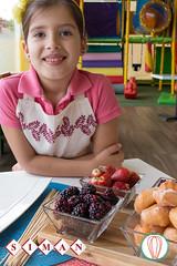 Little Foodies: Donut Hole Breakfast Skewers (twofoodies) Tags: donut centrosdedona skewers pinchos breakfast desayuno fruta fruit kids nios kidsinthekitchen niosenlacocina chocolate