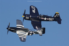 (lus werlang) Tags: canon canon60d corsair mustang p51 airventure airventure2016 osh16 oshkosh aviation warbirds