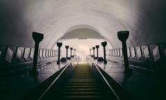 Rite of summer (Panda1339) Tags: londonunderground tubestation underground london architecture artdeco southgate piccadillyline uk light purple thosecreepytorchthings