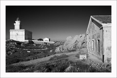 Faro di Capo testa e comprensorio Bn Sq (_ Nemo _) Tags: capotesta faro lighthouse sardegna sardinia bw bn