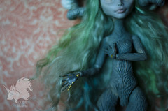 WIP OOAK Ghoulia Yelps (skiurid_b) Tags: monster high ooak custom repain clay apoxi sculpt modification mod mods body