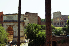 Arco di Tito & Colosseum (kfinlay) Tags: rome italy ancient monument romans historic italia