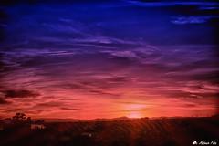 Atardecer en la Sierra (Antonio Calero Garcia) Tags: paisajes espaa pueblos sierra cordoba cielos nubes atardecer sol