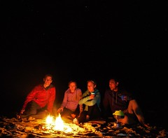 Group shot around camp fire (Kevs World) Tags: camping fire wow life outdoor diamondhead nsw