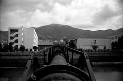 (eastward) (Dinasty_Oomae) Tags: leica leicaiiia leica3a  iiia 3a   blackandwhite blackwhite monochrome bw outdoor   hiroshima   kure  pipeline  sakaigawa