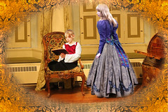 My Governess (ihave3kids) Tags: girls texture photomanipulation reading student digitalart teacher deviantart studying pupil photoshopcontest photoshopcompetition studyroom governess colonialperiod