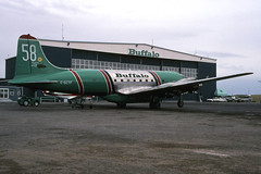 Buffalo Airways DC-4 C-GCTF 12May2000 (Peter M Garwood) Tags: canada aircraft nwt northwestterritories douglas yellowknife dc4 propliner buffaloairways skytruck cgtcf