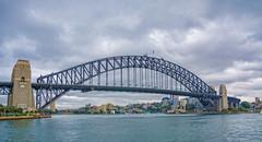 Sydney Harbour Bridge (Scottmh) Tags: park bridge cloud water rain point nikon harbour sydney luna pylon milsons d7100