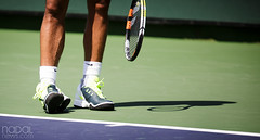 He stood like this for a few seconds and everyone was freaking there was something wrong with his ankle (mirsasha) Tags: california march atp tennis indianwells 2015 rafaelnadal bnpparibasopen