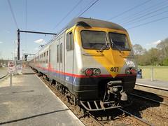 NMBS Trainset N 407. (Franky De Witte - Ferroequinologist) Tags: de eisenbahn railway estrada chemin fer spoorwegen ferrocarril ferro ferrovia