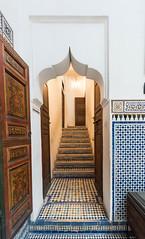 03.04.2015_00029 (dancarln_uk) Tags: wood travel blue red white tourism yellow architecture nikon islam arches arabic morocco marrakech marco marrakesh calligraphy dslr quran arabesque d810