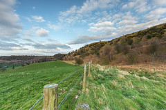 on the fence (Steven Peachey) Tags: uk trees england sky cloud grass canon fence exposure hills fields greatayton northyorkshire manfrotto 2015 roseberrytopping ef1740mmf4l lee09gnd leefilters canon6d hawkdog