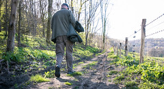 Back to the campsite (lucie.robinson) Tags: walking track gloucestershire lionel nationaltrust footpath manwalking woodchesterpark walk1406uftonnervet trip1504nympsfield