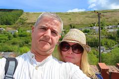 Ferndale, Wales (Pontyberry, if you love Stella) (Richie Wisbey) Tags: stella sky horse green beautiful wales one michael flickr auntie hill donkey location jackson hills richard welsh brenda filming ferndale aunty valleys presh wisbey pontyberry