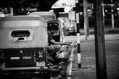 Auto Rickshaw Driver Reading Newspaper (Tomorrow's Photographer) Tags: people india newspaper delhi autorickshaw