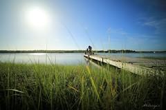 Fishing the Sun (AXDesigner) Tags: wood sun lake wooden fishing crab boardwalk rocket 28 14mm 18000 onslowbeach rokinon 5dmarkiii axdesigns