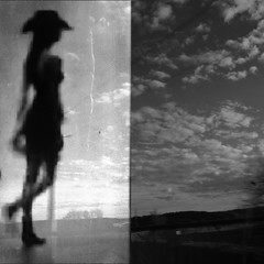 horses / West Country Girl (rosa_rusa) Tags: sky horses bw window girl ventana blackwhite chica dream together cielo concept cowgirl horizont horizonte sueo doble traum diptico westcountrygirl rosarusa