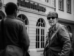 Heidelberg Agents (1mpl) Tags: bw monochrome portraits germany streetphotography heidelberg travelphotography niksilverefexpro olympusomdem1