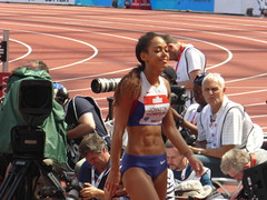 P1040603 (Commander Idham) Tags: muller anniversary games saturday 23 july 2016 team gb great britain rio athletics london olympic stadium 100m relay 3000m steeplechase long jump hurdles 110m katarina johnsonthompson