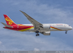 Hainan Airlines Boeing 787-8 (B-2729) (Michael Davis Photography) Tags: kord ord chicago chicagoohare chicagoillinois hainanairlines boeing boeing787 b787 b2729 aviation photography flight jet airplane arrival landing runway international aircraft vehicle airliner outdoor jetliner