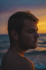(Daniel Galan Lorente) Tags: sunset selfportrait self sun spain orange yellow sea beach portrait portraiture fineartphotography fineart boy pentax