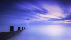 Chalkwell Revisit (scott.hammond34) Tags: longexposure sky cloud seascape texture beach water landscape movement waves outdoor calm coastal serene bluehour groyne essex southend cloudscape chalkwell