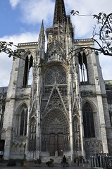 South Transept Facade, Fambloyant Gothic Cathedral of Rouen, Haute-Normandie, France (mike catalonian) Tags: southtranseptfacade france cathedral rouen middleage medieval gothic