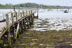 Wooden pier, Portchester (Andrey Sulitskiy) Tags: uk england portchester hampshire