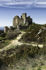 Medieval Abbey-Castle of Loarre, looking West, Huesca, Aragon, Spain, built between XI -XIII century (mike catalonian) Tags: architecture xiiicentury xiicentury xicentury romanesque spain aragon huesca abbey castle loarre