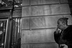 Broad Street, 2016 (Alan Barr) Tags: broadstreet cigarette philadelphia 2016 street sp streetphotography streetphoto blackandwhite bw blackwhite candid people mono monochrome ricoh gr