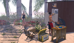 GRILL ON THE SWANKY BEACH (marpil.grafenwalder) Tags: sl secondlife tm swank jz balderdash kazimir woodworks dreamlanddesigns ~somerset~