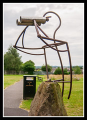 Binos Man 1 (veggiesosage) Tags: nottingham bulwell sculpture gx20 aficionados bulwellforest publicart urbanart park tamronspaf1750mmf28xrdiiildasphericalif