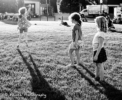 The dream of fly!     (Monica@Boston) Tags: dancing children outdoor park afternoon blackandwhite