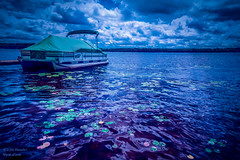 Blush of Purple (PhotoArtMarie) Tags: blue boat water lake purple green