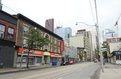 Queen St. East of Church St., Toronto 2016 (Howard258) Tags: queenstreet torontoontario buildings 2016 queenstreeteast streetview