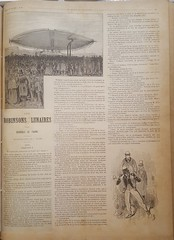 Steampunk airship French story paper (steammanofthewest) Tags: dimenovel 1891 french steampunk airship sciencefiction