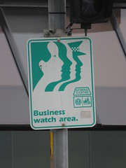 Older 1980s/90s Business Watch Area sign (RS 1990) Tags: unleyrd malvern adelaide southaustralia thursday 28th july 2016 businesswatch sign parkst wattlest junction