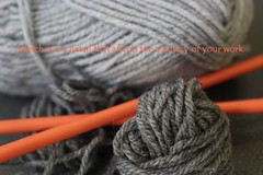 """Detail"" (Pat's_photos) Tags: knitting wool needles quote"