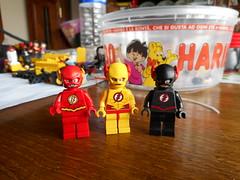 flash and co (Be-C Custom Brick) Tags: flash decal lego custom dc justice league batman zoom reverse nega bec