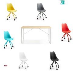 Soul sedia con ruote e scrivania stile nordico (design italiano) Tags: sedia ufficio ruote colorate cameretta scrittoio scrivania poltrona poltroncina