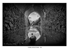 Tunnel Reflections (JChipchase) Tags: swanviewtunnel perth australia reflections blackandwhite nikon d750 abandoned